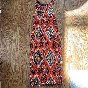 Racer back Aztec print stretchy dress
